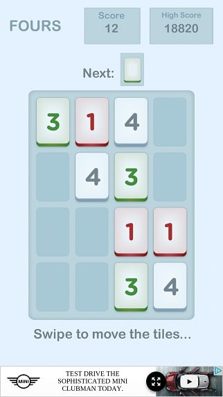 Fours - 2048 Puzzle Game